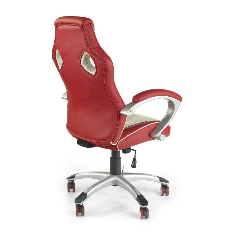 Кресло поворотное Halmar Malibu   Красный / кремовый - 4
