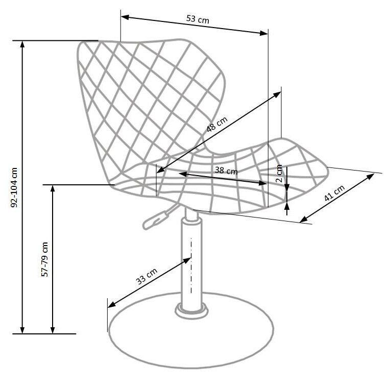 Кресло поворотное Halmar Matrix 2 | Белый / черный - 3