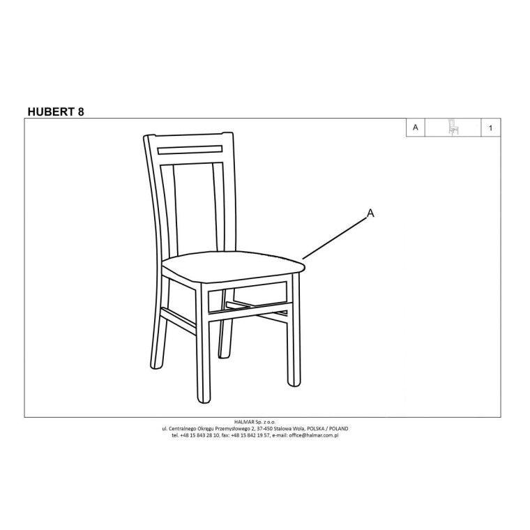 Стул кухонный Halmar Hubert 8 | Темный орех / бежевый (Vila 2) - 3