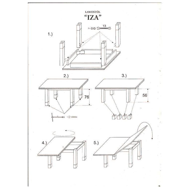 Стол раскладной Signal Iza | Дуб ланцелот - 2