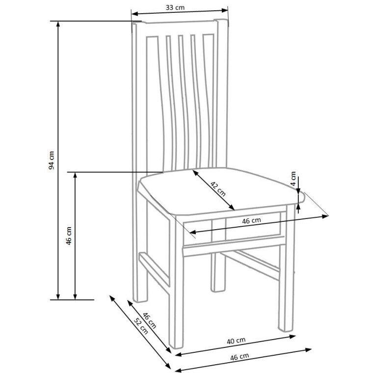 Стул кухонный Halmar Pawel | Дуб сонома / Серый (Inari 23) - 2