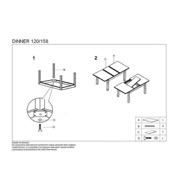Стол раздвижной Halmar Dinner | Черешня античная - 2