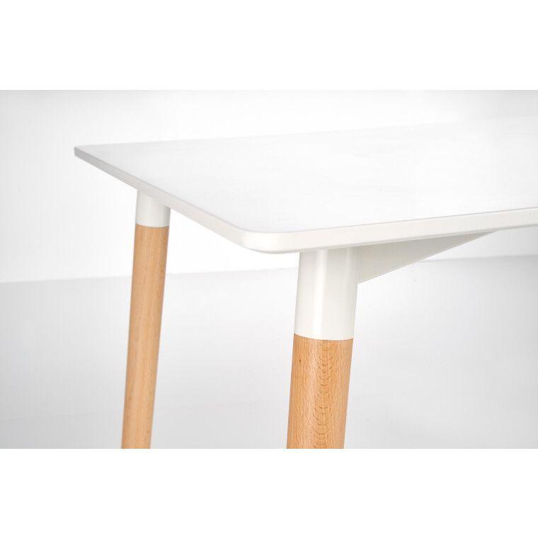 Стол обеденный Halmar Socrates прямоугольный | Белый - 5