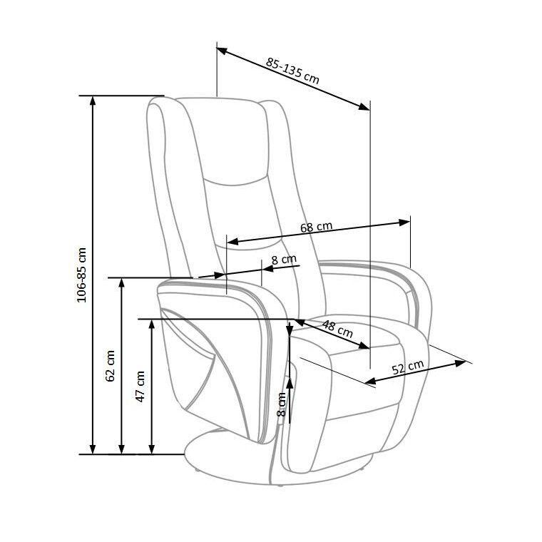 Кресло с массажем и подогревом Halmar Pulsar   Серый - 3