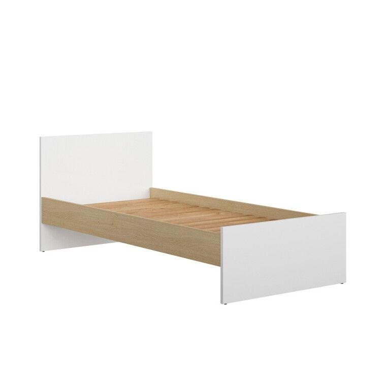 Кровать BRW Princeton | Белый / Дуб польский - 5