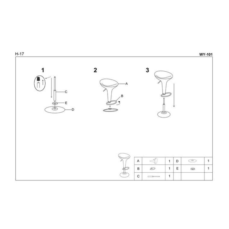 Стул барный Halmar H-17 | Белый - 2