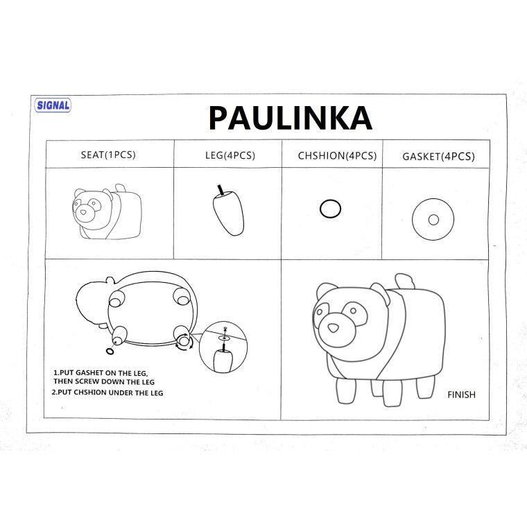 Пуф Signal Panda Paulinka | Белый / черный - 2
