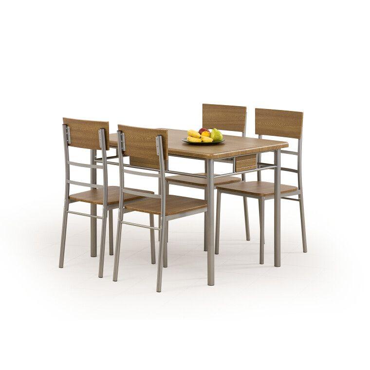 Набор мебели столовой Halmar Natan | Орех