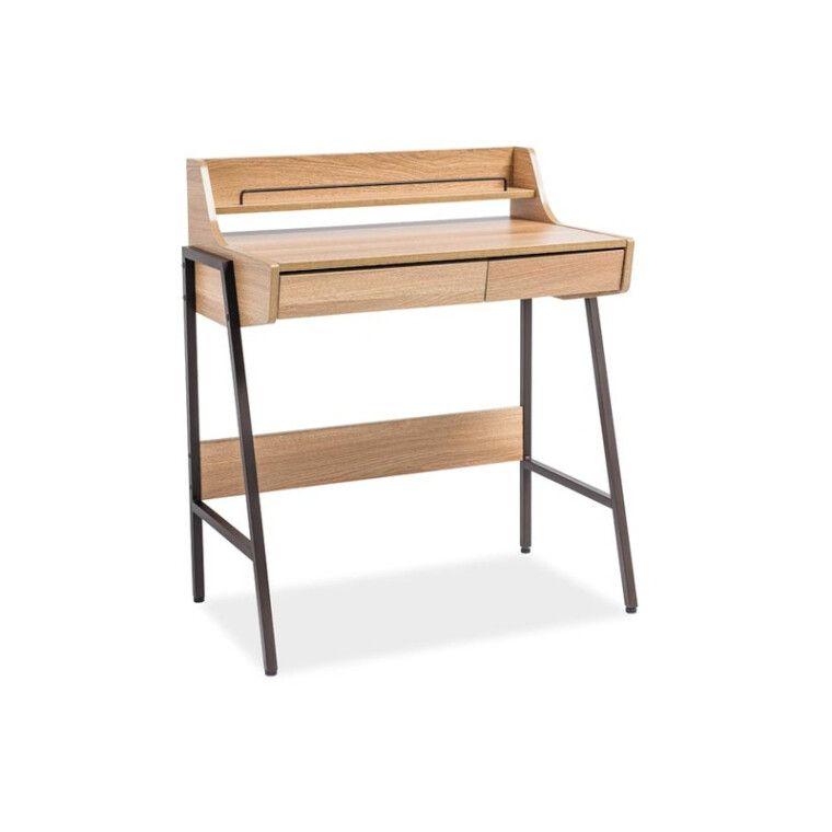 Стол письменный Signal B-168 | Дуб / темно-коричневый