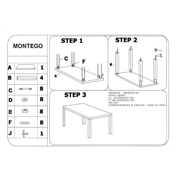 Cтол обеденный Signal Montego | 90х160 - 2
