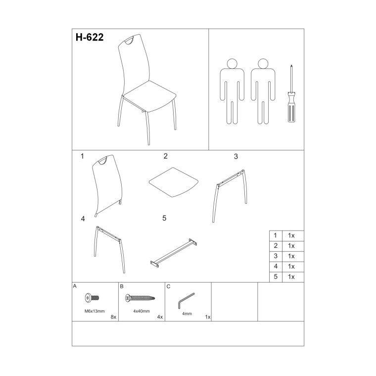 Стілець Signal H-622 | Латте - 2