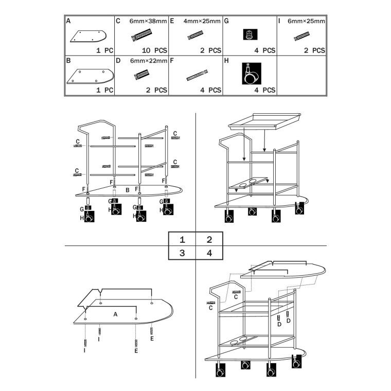Сервировочный столик Signal B-408 | Венге - 4