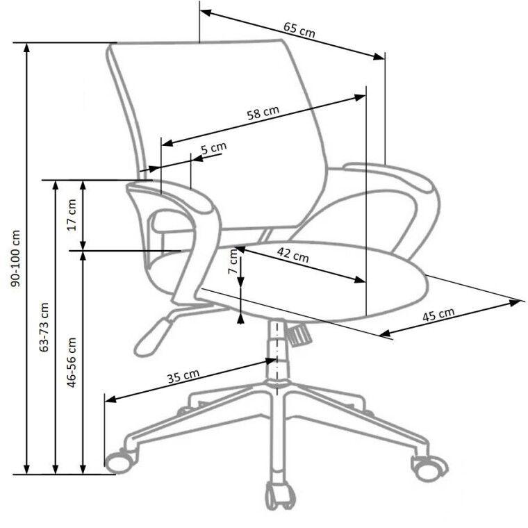 Кресло поворотное Halmar Lucas   Белый - 2