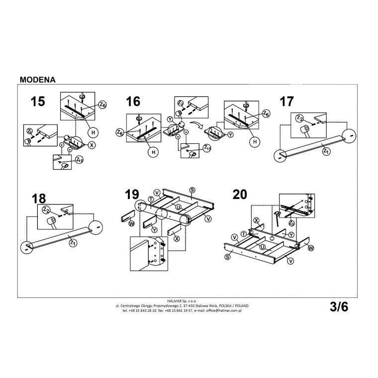 Кровать Halmar Modena   140х200 / Серый - 3