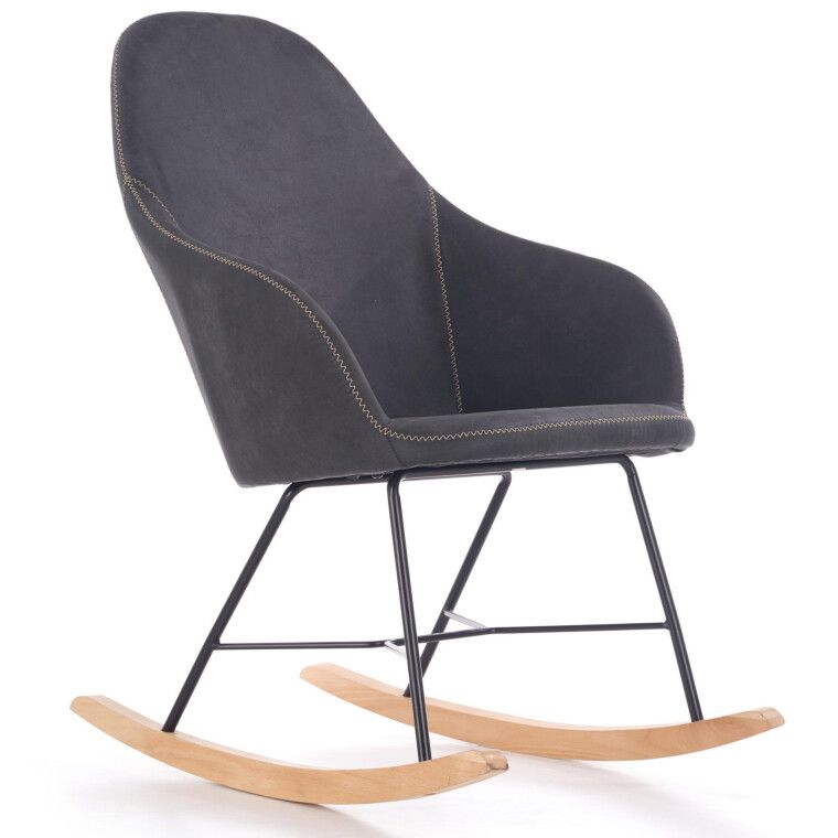 Кресло-качалка Halmar Lagos | Серый - 6