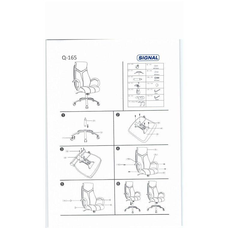 Кресло вращающиеся Signal Q-165 | Черный / Cерый - 2