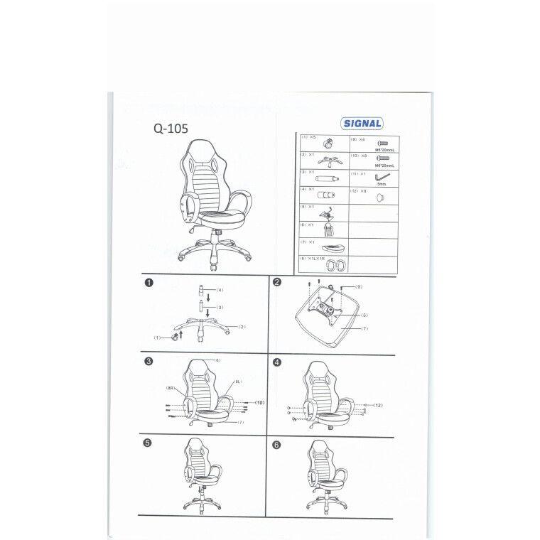 Вращающееся кресло Signal Q-105 | Черный / красный фото - 2