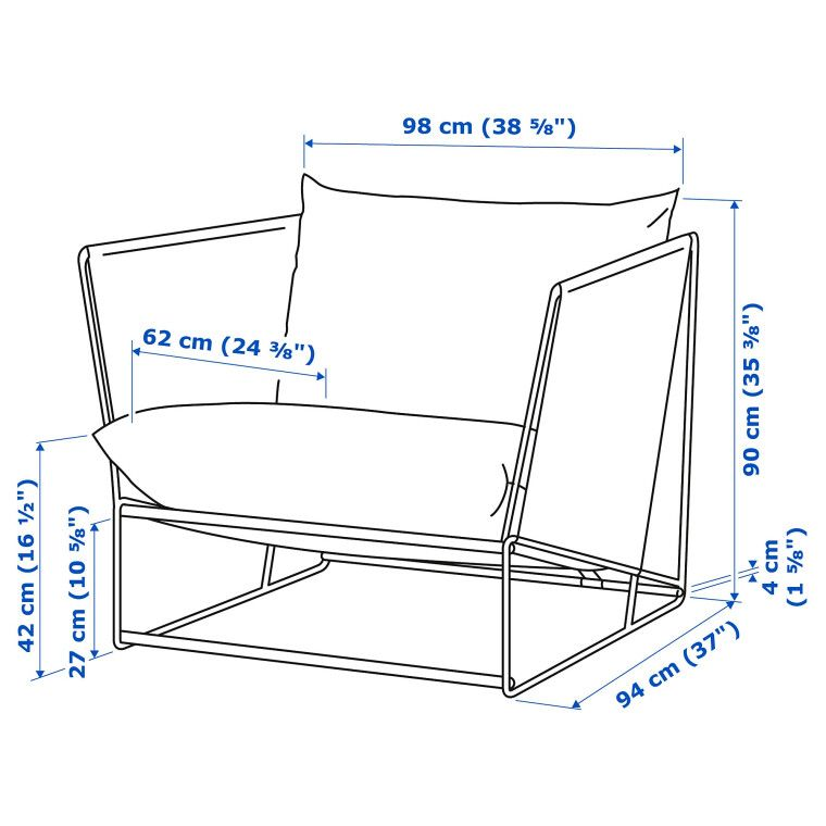Кресло садовое HAVSTEN - 14