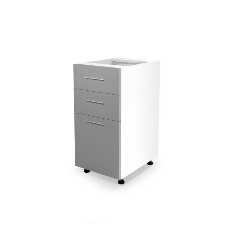 Нижний шкаф модульный Halmar Vento D3S-40/82 | Светло-серый