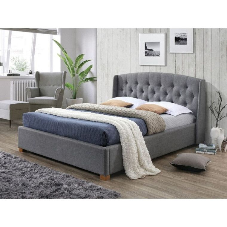 Кровать Signal Hampton | 160х200 / Серый / Дуб