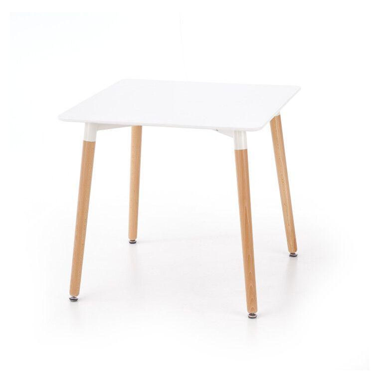Стол обеденный Halmar Socrates квадратный | Белый - 3