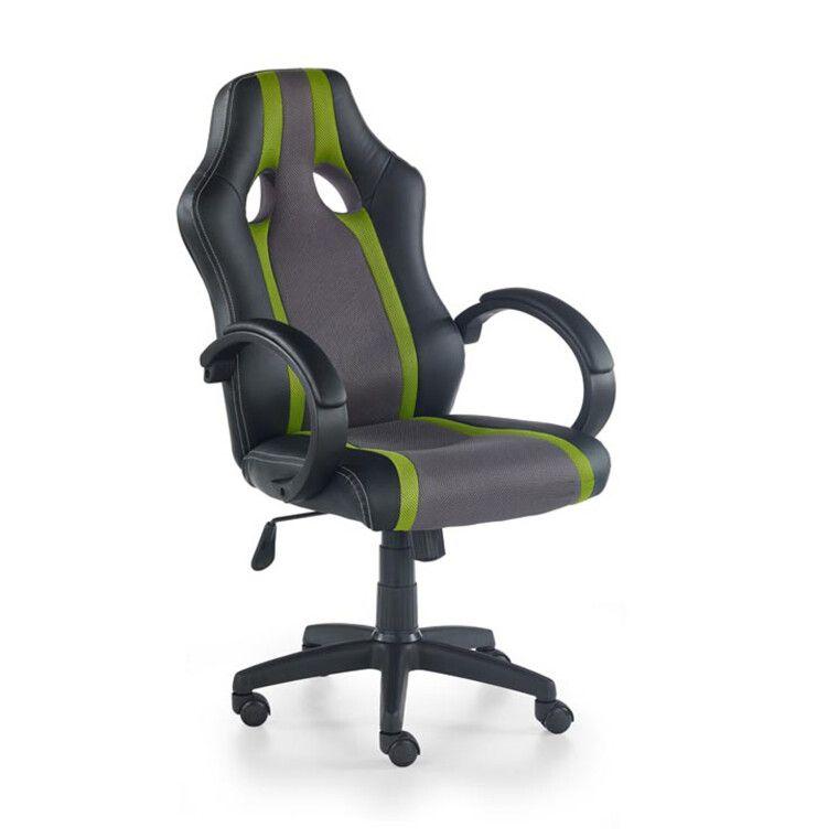 Кресло поворотное Halmar Radix | Серый / Зеленый