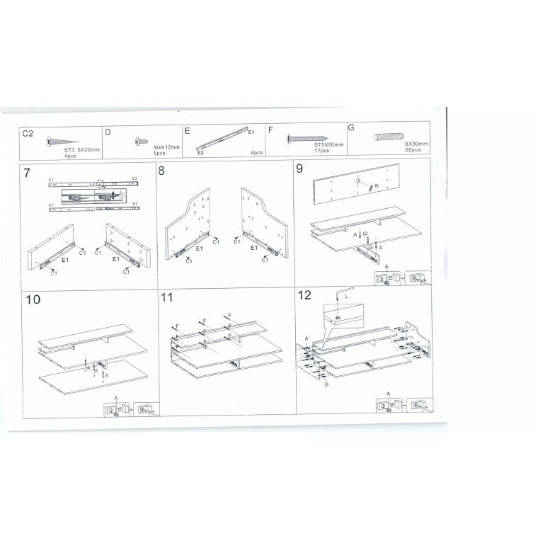 Стол компьютерный Signal  B-160 | Дуб / белый - 2