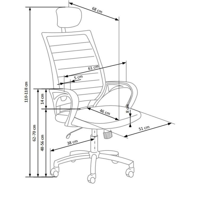 Крісло поворотне Halmar Socket | Чорний / Білий - 2
