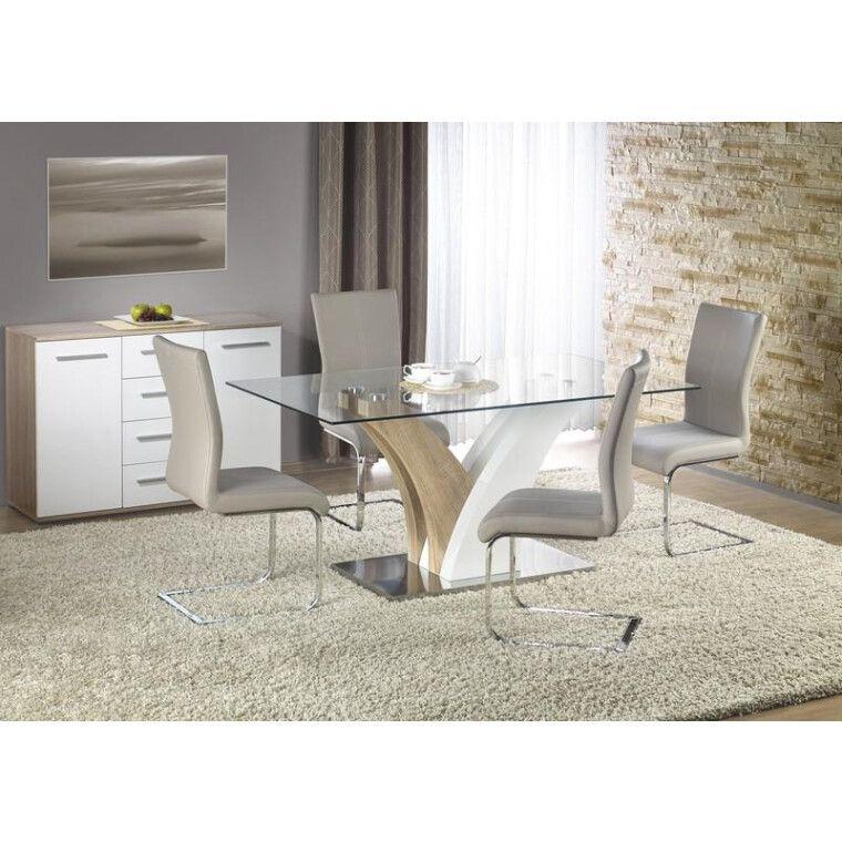Стол обеденный Halmar Vilmer | Дуб сонома / белый