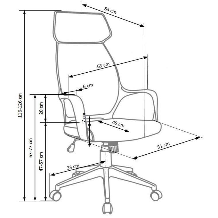 Кресло поворотное Halmar Photon   Синий фото - 2