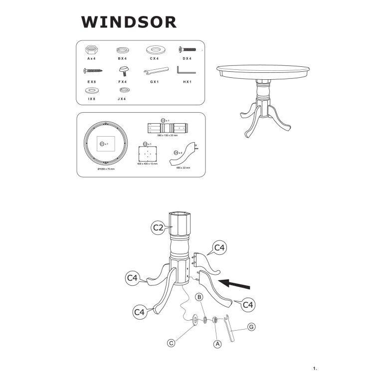 Стол обеденный Signal Windsor | Белый - 4
