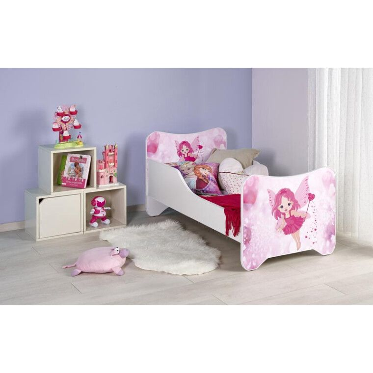 Кровать детская с матрасом Halmar Happy Fairy | Розовая фея