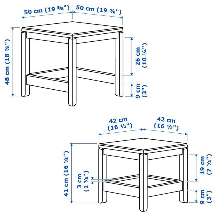 Комплект столиков HAVSTA - 9