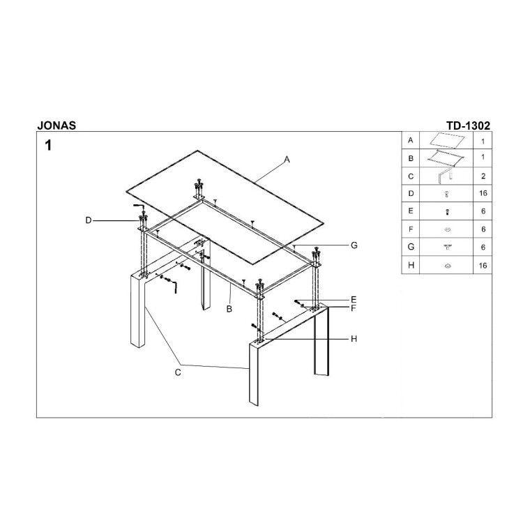 Стол обеденный Halmar Jonas | Белый - 2