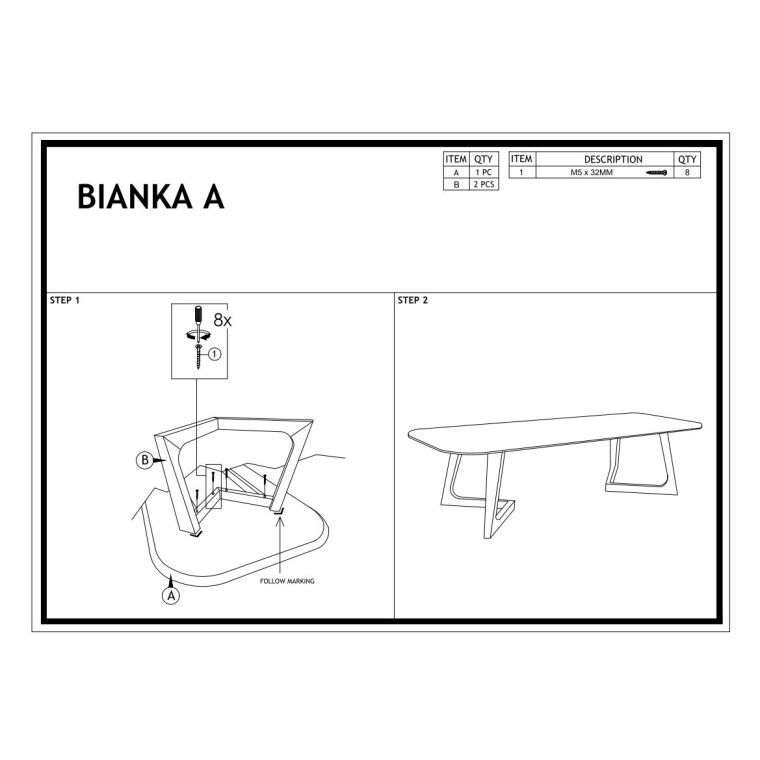 Журнальный столик Signal Bianka A | Орех / графит - 5