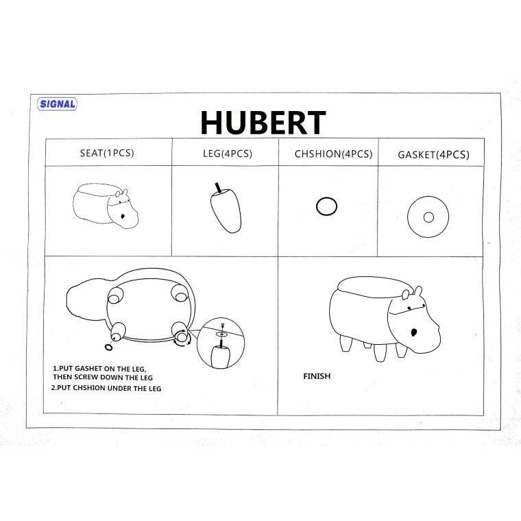 Пуф Signal Hipopotam Hubert | Серый - 2