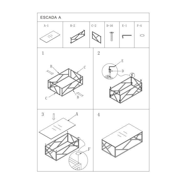 Столик журнальный Signal Escada A | Хром - 3
