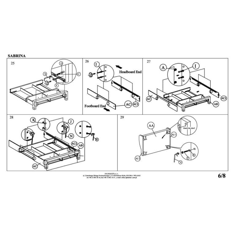 Кровать Halmar Sabrina | 160х200 / Серый - 12