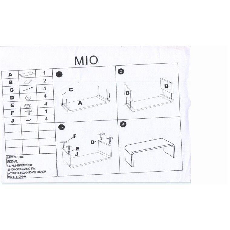 Столик журнальний Signal Mio | Білий - 2