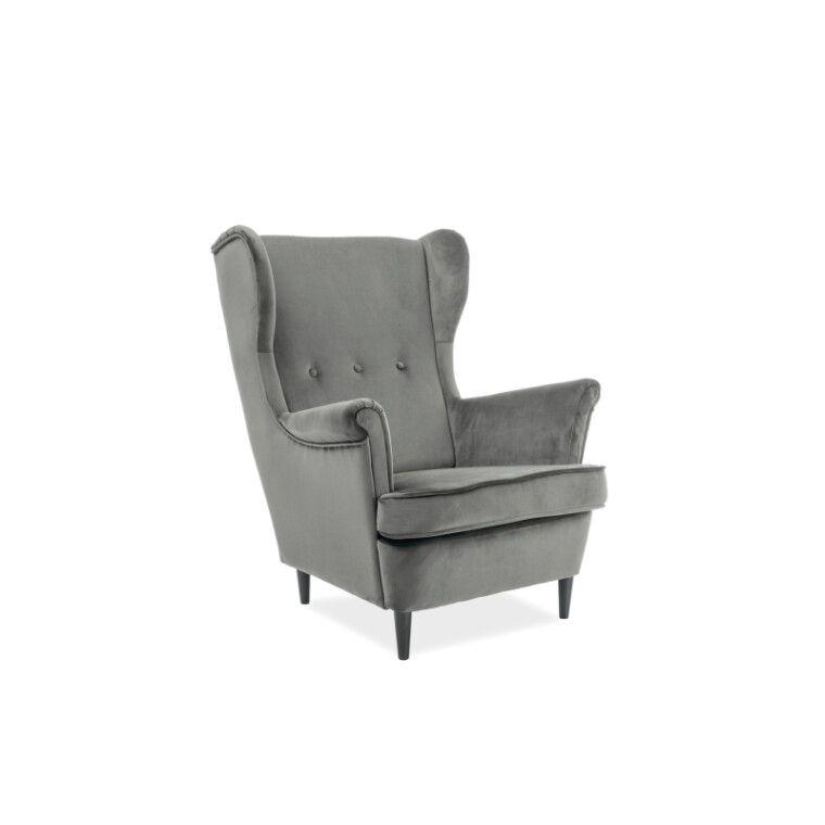 Мягкое кресло Pooffe Mister Velvet | Серый