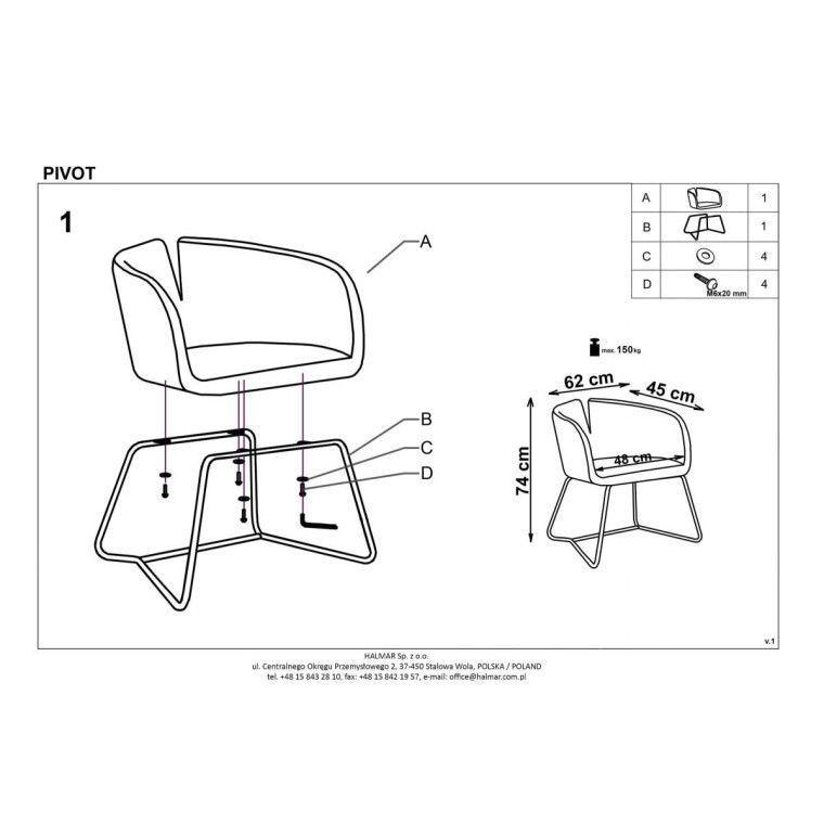 Кресло Halmar Pivot | Зеленый - 2