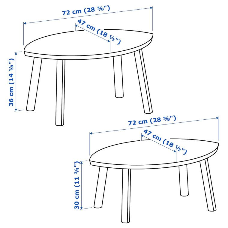 Комплект столиков STOCKHOLM - 12