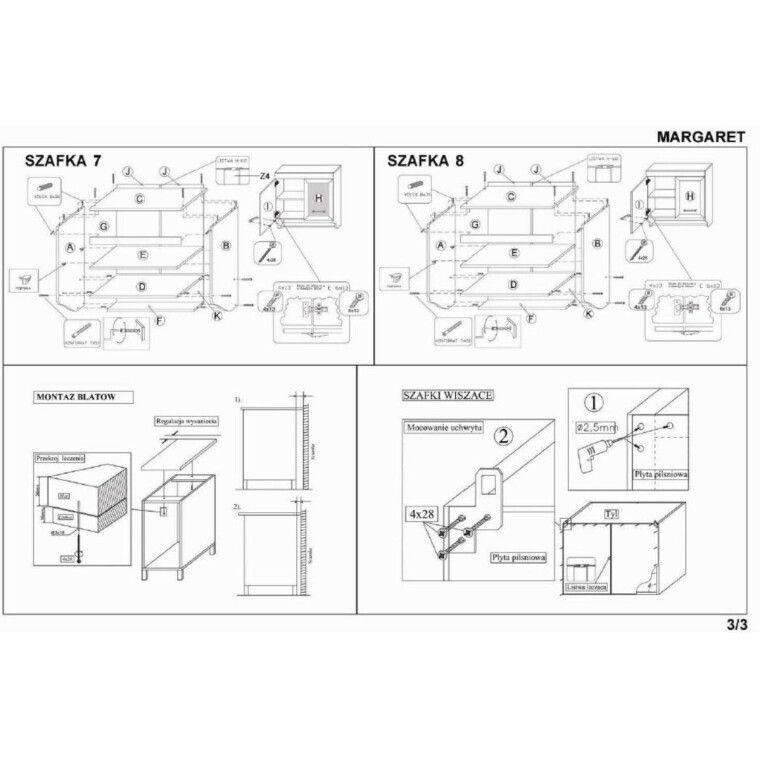 Кухонный гарнитур Halmar Margaret 3 260 | Орех - 4