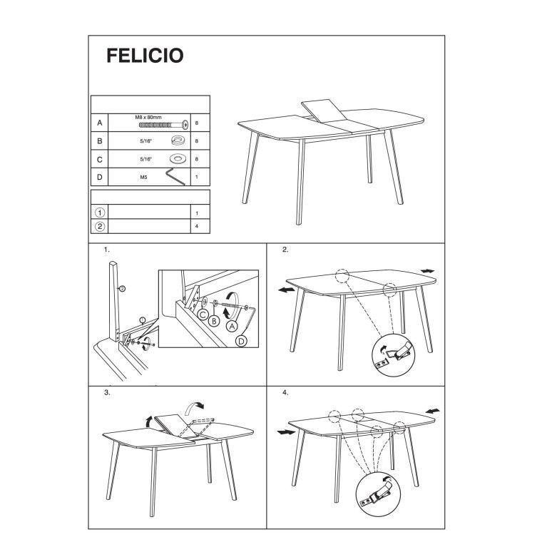 Стол обеденный Signal Felicio | 90х150 - 3