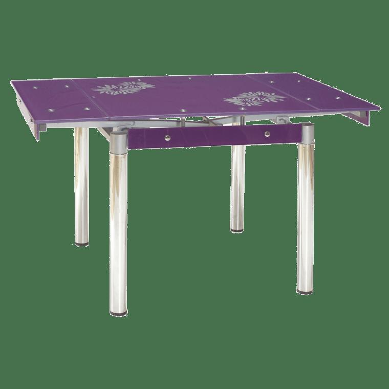 Cтол обеденный раскладной Signal GD-082 | Фиолетовый