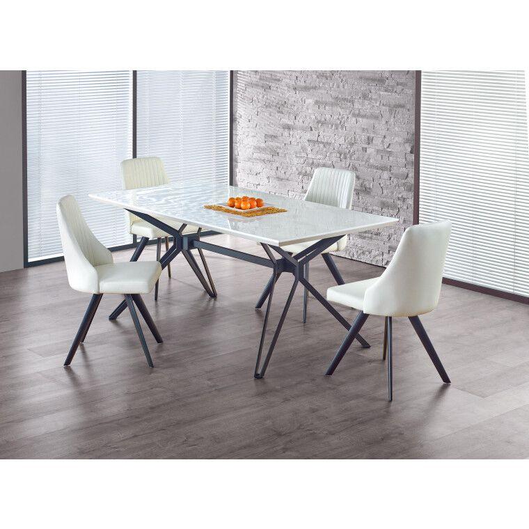 Стол обеденный Halmar Pascal  | Белый / Черный