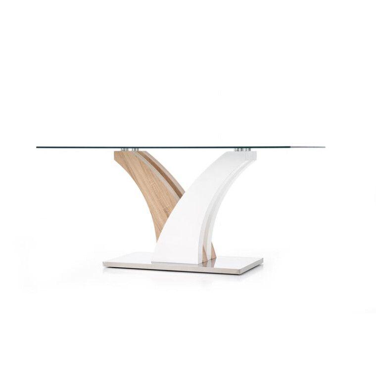 Стол обеденный Halmar Vilmer | Дуб сонома / белый - 8