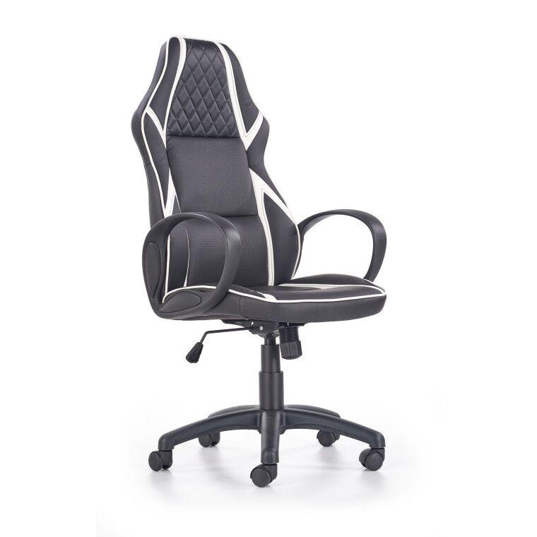 Кресло поворотное Halmar Dodger | Черный / белый - 6
