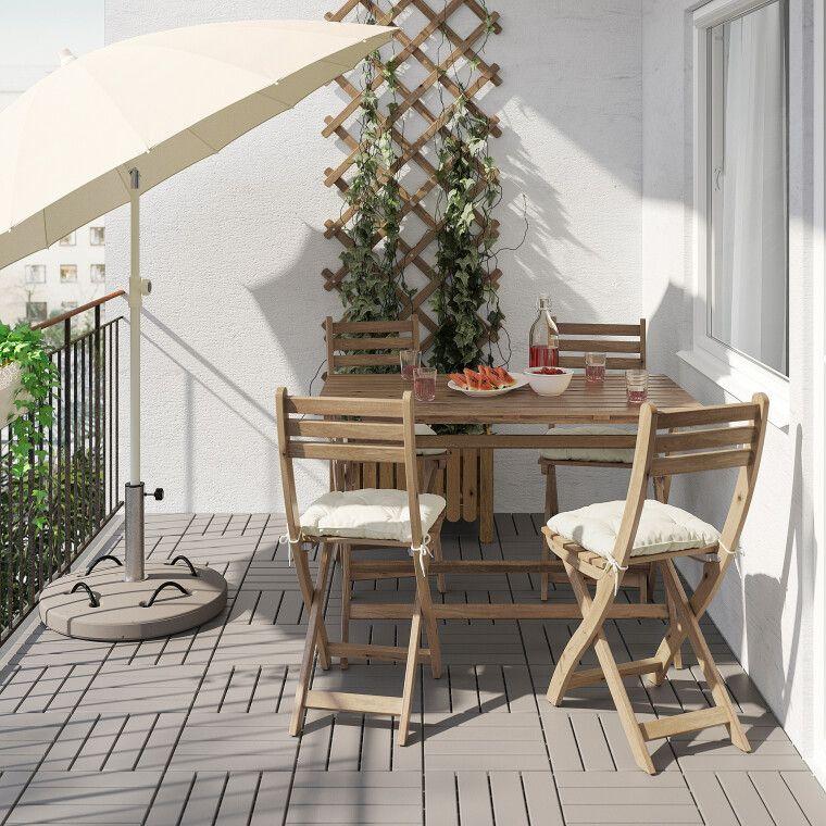Комплект мебели садовой ASKHOLMEN - 4