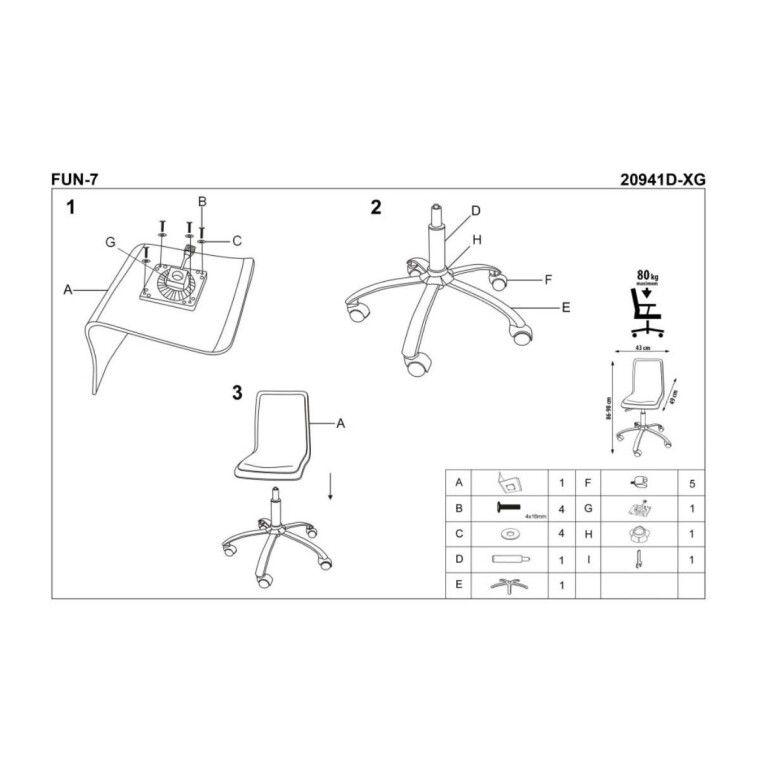 Кресло поворотное Halmar Fun-7 | Фиолетовый - 4